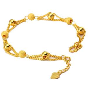 Sıcak Kaplama Altın Kum Boncuk Bilezik Vietnam Kum Altın Boncuklu Bilezik Yeni Yaratıcı Euro Coin