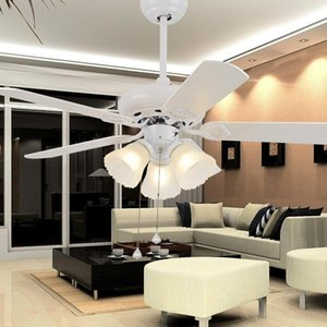 LED ceiling fans lamp 3 light Number of Blades 5 pcs 110-220V fan 42 Inch 108cm The wall switch Free Shooping