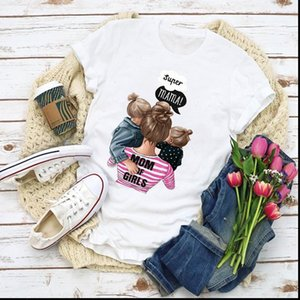 Mama Women Mom Graphic Mooring Cartoon Life Love Summer Tops Lady Clothes Womens Clothing Tee Female T Shirt