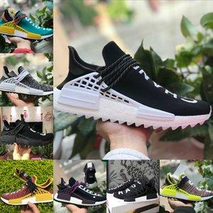 Sales 2020 New HUMAN RACE Pharrell Williams Men Women Running Sport Designer Shoes Black White Primeknit Casual Running Sneaker P56