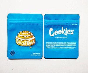 New Cookies california Honey bun Cookies Bags with labels 3.5 Grams Flower sf Bag Ocean Beach Berry Pie Sticky Buns Sweet Tea Cookies Bag