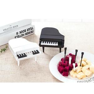 10pcs set Fruit Snack Toothpick Dessert Forks Picks Tableware Creative Piano Fruit Forks