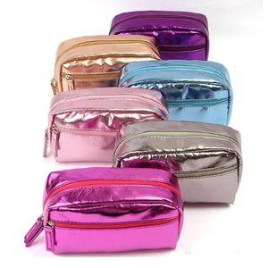 Fashion waterproof cosmetic bags Korean version PU leather wash bag storage bag travel make up bag colorful WY1093