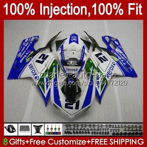 Injection OEM For DUCATI 1198S 848R 848 1098 1198 S R Green blue 07 08 09 10 11 12 Cowling 18No.140 Body 848S 1098S 2007 2008 2009 2010 2011 2012 1098R 1198R 07-12 Fairing