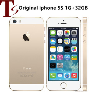 Original Unlocked Apple iPhone 5S IOS Smartphone 4.0'' 16GB 32GB 64GB ROM WiFi GPS 8MP Touch ID Fingerprint 4G LTE Mobile Phone