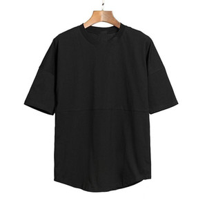 2020 Neue Mens T-Shirts T-Shirt T-Bat-Hülse Männer und Frauen Übergröße Lose Runde Kragen Ellenbogenhülse T-shirts Rick1323