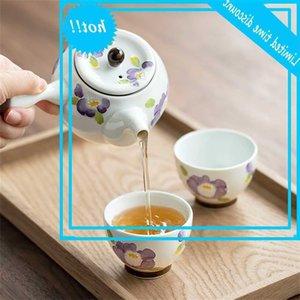 El Boyalı Mor Orkide Çaydanlık Japon Stil Yan Kolu Jixugong Teacup Fair Kupası Petal Çay Seti
