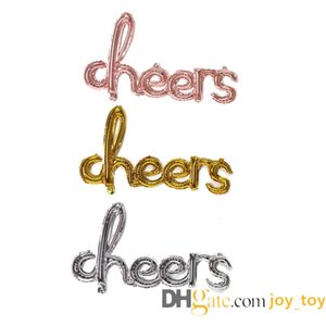 Mix colors 39 inch Cheer Balloon Banner Hand Writing Style Foil Letter Balloon Anniversary Celebration Decora