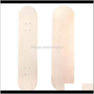 Propro 8Inch 8-Layer Maple Blank Double Concave Skateboards Natural Skate Deck Board Skateboards Deck Wood Maple 2Glc5 Adxm4