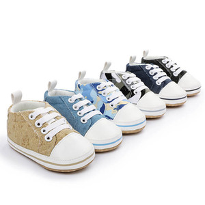 Baby Sneakers Baby Boys Shoes Toddler Shoes 0-1T Casual Canvas Newborn Shoes Moccasins Soft First Walker Boys Footwear B4083