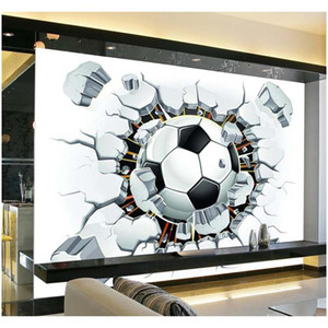Wholesale- 3d Soccer Wallpaper Sport Background Mural Living Room Sofa Bedroom Football Tv Backdrop Custom jllUhg outbag2007