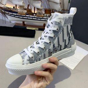 Gran calidad Black Blanco Bee Shoes Gray High Top Top Oblique Shoes Zapatos Casuales Mujeres Diseñadores de moda Sneakers