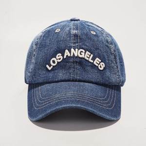 Spring New Denim Baseball Caps Los Angeles Retro BaseballCaps Unisex Casual embroidery Hat Free shipping by DHL