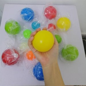 Palloni da soffitto luminescent Stress Stress Slip Sticky Ball Glow Stick to the Wall e cadere lentamente Squishy Glow Toys 69 S2