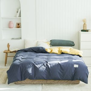 Cotton solid color double pure cotton quilt cover student dormitory