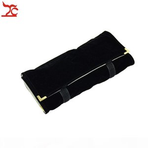 Portable Jewellery Organizer Velvet Necklace Storage Holder Case for Travel Jewelry Roll Bag Pouch Factory Direct-Selling