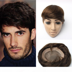 6X8inch 7X9 inch 8x10inch Super Durable Thin Skin mens toupee,Mono Base Men hair Wig, Hair Prosthesis with Indian Remy Hair wigs for men
