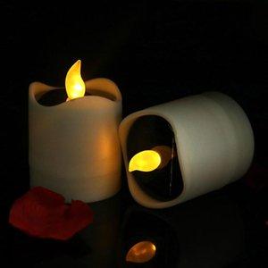 1 шт. Солнечные светодиодные свечи, беспламенные свечи Водонепроницаемые свечи свечи для наружной свадьбы Рождество Halloween Par Qylutk