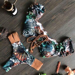 2021030401 New Push Up 2020 Bikini Set Women Ruffle Biquini Swimwear Low Waist Sexy Brazilian Ribbed Swimsuit Bather Beach Maillot De Bain