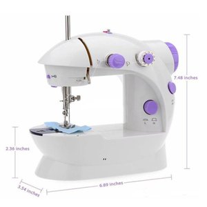 Mini Sewing Machine Electric Household DIY Handwork Sewings Machines Dual Speed With Power Supply Small Home Supplies OWE8697