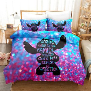 Bedding Sets Colorful Stitch Set Cartoon Bedspread Single Twin Full Queen King Size Bedclothes Children's Boy Bedroom Bed