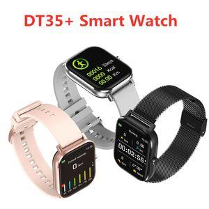 Fitness Tracker DT35 + Smart Watch 1,75 Zoll Full Touch Screen IP67 Wasserdichte EKG Gesundheit Smart Armband Bluetooth Anruf Herzfrequenz