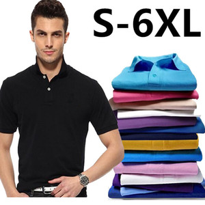 Summer 2021 Sports Mens Fashion Big Small Horse Crocodile Polo Shirts Male Street Casual Business Short Sleeve Cotton Lapel Coat