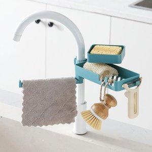 Banheiro Organizador Prateleiras Banho Duche Sabonete Plástico Azul Banheiro Torneira Acessórios Cozinha Titular De Armazenamento Mar Navio do Mar EWB4959