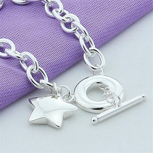 Charm Bracelets 925 Silver Delicate Solid Star TO-clasp Bracelet For Women Wedding Engagement Birthday Anniversary Fashion Jewelry