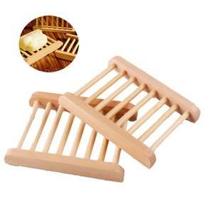Natural Wooden Soap Dishes Soap Tray Holder Bath Soap Storage Box Plate Container Household Shower Bathroom Accessories