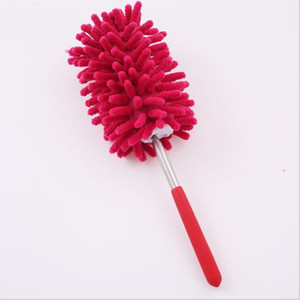Retractable Long-Reach Washable Dusting Brush Chenille Microfiber Hand Duster with Telescoping Pole Household Cleaning Tools