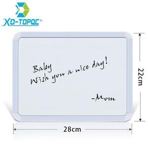 XINDI New 22*28cm Dry Erase Magnetic Whiteboard Plastifc Frame White Bulletin Board On Fridge Kids Message Drawing Boards WB02 210312