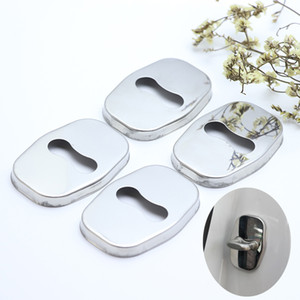 for Peugeot 307 CC SW 208 407 301 car-styling Stainless Steel Door Lock Buckle Protective Cover High quality