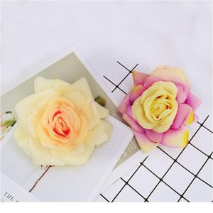11cm Silk Roses Head Christmas Wreath Decorations For Home Wedding Diy Scrapbook Flowers Artificial Plants Fake Plastic qylNRr