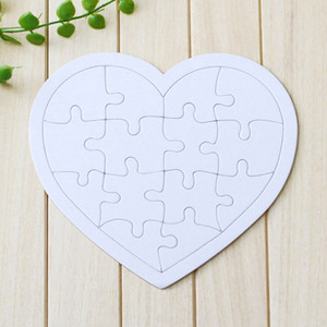 Sublimation Jigsaw Blank White Puzzle 4 shape DIY Heat Transfer Wooden toys for children toddler creative Paper puzzles A13