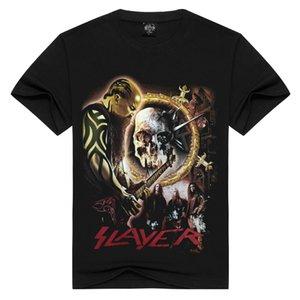 Sıcak Satış Slayer Bant Erkekler / Kadın T-shirt Slayer Hız Metal T Gömlek Erkekler Tshirt Punk Giyim Yaz Streetwear L0223