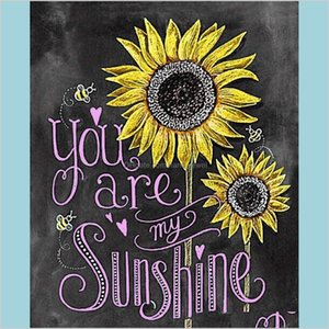 You Are My Sunshine Diamond Painting Kit 5D Full Diamond Painting By Numbers For Adults Sunflower Diamond Painting Art Gift For Kids Q U3Ftc