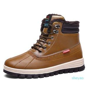 kind8 waterproof cotton large size winter triple black grey man boy men boots mens sneakers boot trainers outdoor walking shoes 2225