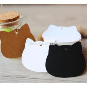 Cat Head Kraft Paper Tags Wrap Labels DIY Wedding Birthday Note Blank Craft Gift Tag 5.2x6.5cm 300pcs lot