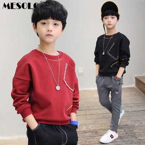 MESOLO 2019 Spring Models Big Boy Front Pocket Sweater Children's Sweater Tide Children's Clothing J0306