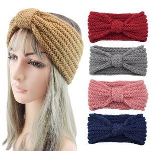Knitted bow headband, hand-woven headgear, warm wool headband, autumn and winter bundled hair, Korean hair accessories