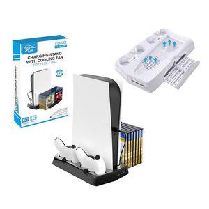 2021 Novo PS5 Anfitrião Multi-Função Carregamento de Refrigeração Base de Refrigeração Placa de Armazenamento Suporte PS5 Lidar com Carregador Fixo 2 Cores