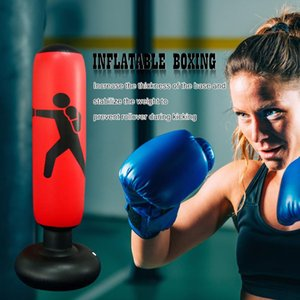 Boxing Training Equipment Kickboxing Muay Thai Inflatable Bag Free-Stand Tumbler Exerciser Equipments Gym Training