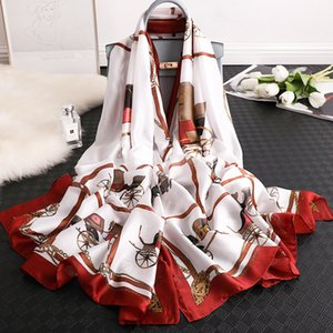 Spring autumn new warm and thickened women's seaside sunscreen scarf silk carriage chain beach towel IK9M