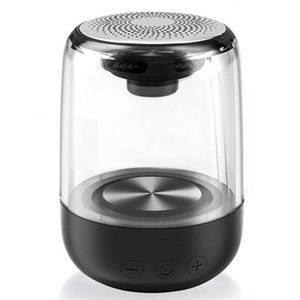 Portable Bluetooth 5.0 Speaker Transparent LED Luminous Subwoofer Surround HIFI Stereo Cool o for Mobile Phone