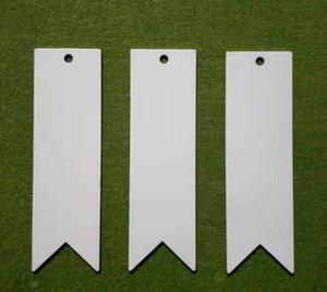 DHL300 adet Bookmark Süblimasyon DIY Beyaz Boş Metal Yer İmleri Mesaj Kartları Kitap Notları Kağıt Sayfa Tutucu Kitaplar Okul Ofis Malzemeleri