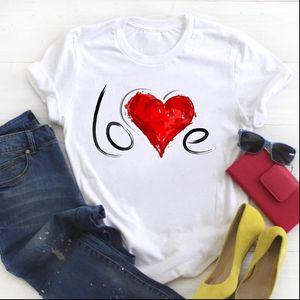 Femmes Love Letter Fashion Saint Valentin 90s Print Trend Mesdames Summer Tee Tee T-shirt Tshirt Womens Graphique T-shirt