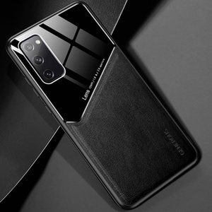 Lens Camera Protection Phone Case For Samsung S20 S20Ultra S20FE PU Leather Tempered Glass Phone Back Cover For iPhone 12 11 Pro Max