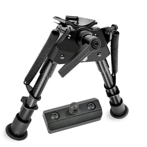 6-9 Inch Tactical Carbon Fiber Hunting Bipod Swivel Style with Podlock for M-LOK mount Fits on handguards