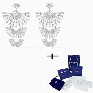 SWA 2021 Nouvelle ligne de danse scintillante exquise Boucles d'oreilles, de bijoux brillants et charmants est le meilleur cadeau d'anniversaire pour votre femme